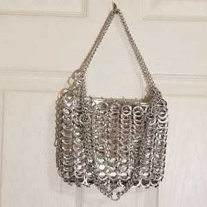 Vintage Walborg silver chain link handbag / purse